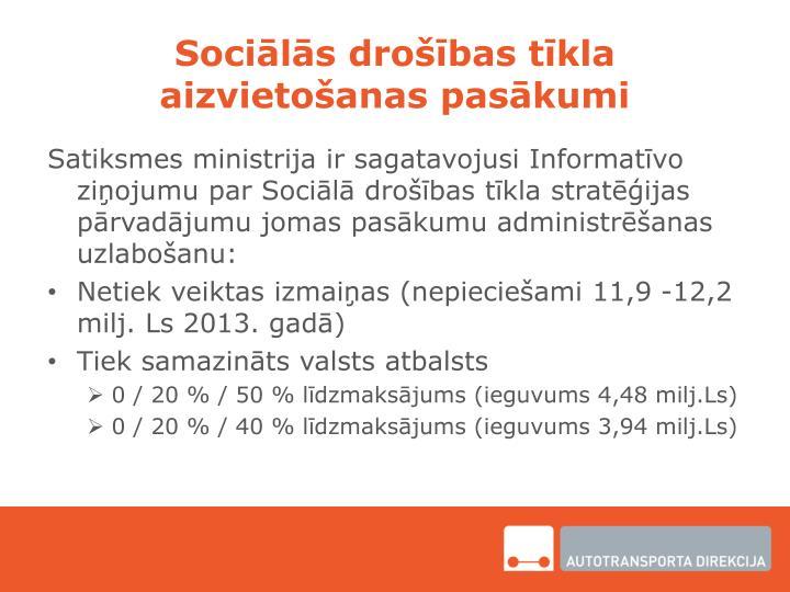 Sociālās drošības tīkla aizvietošanas pasākumi