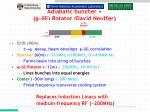 adiabatic buncher rotator david neuffer