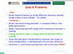 goal problems