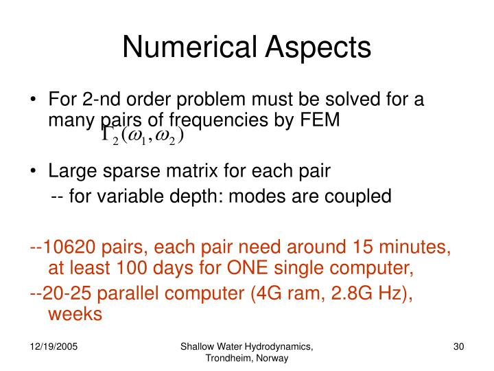 Numerical Aspects
