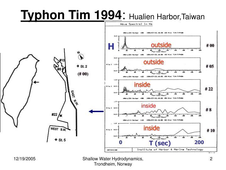 Typhon tim 1994 hualien harbor taiwan
