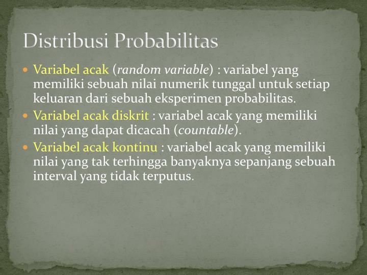 Distribusi probabilitas1