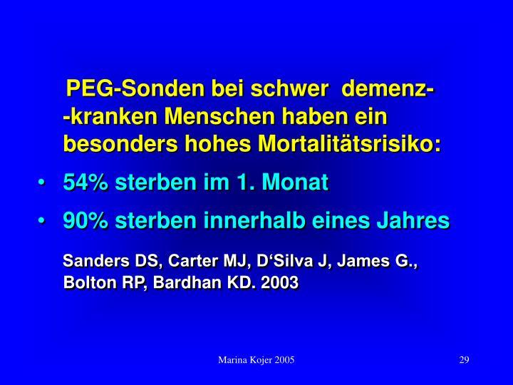 PEG-Sonden bei schwer  demenz-