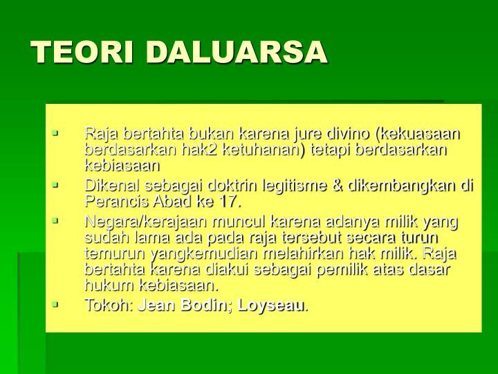 TEORI DALUARSA