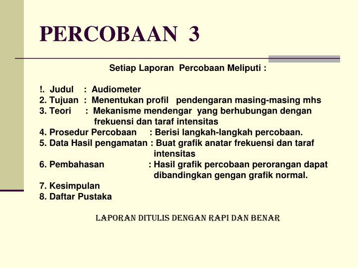 PERCOBAAN  3