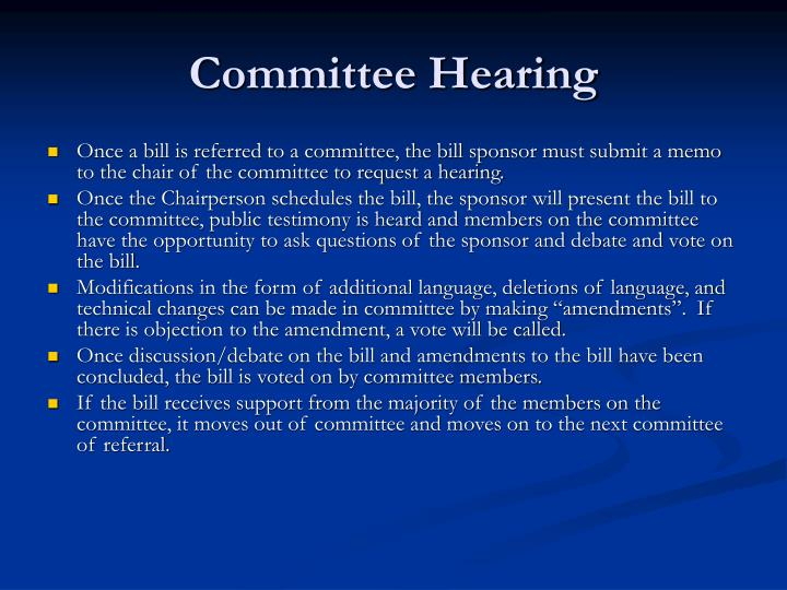 Committee Hearing