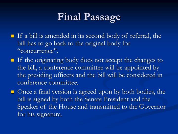 Final Passage