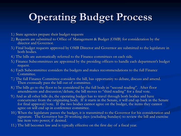 Operating Budget Process