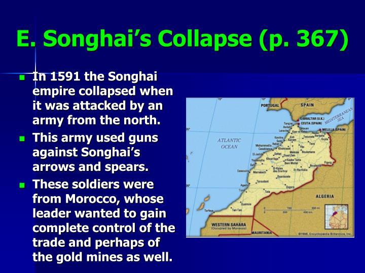 E. Songhai's Collapse (p. 367)