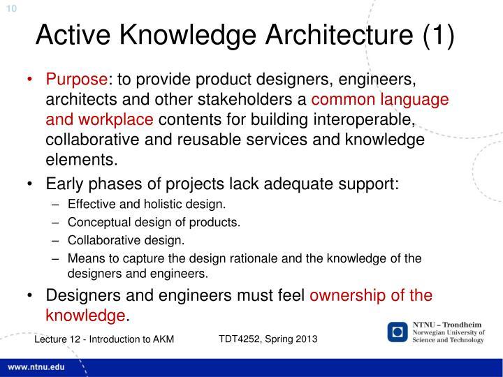 Active Knowledge Architecture (1)