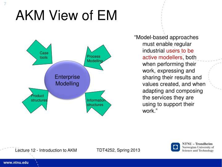 AKM View of EM