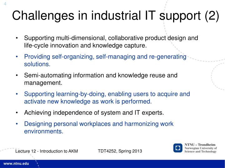 Challenges in industrial IT support (2)