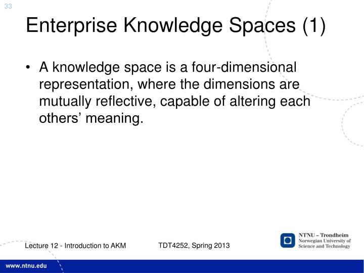 Enterprise Knowledge Spaces (1)