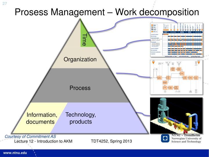 Prosess Management – Work decomposition