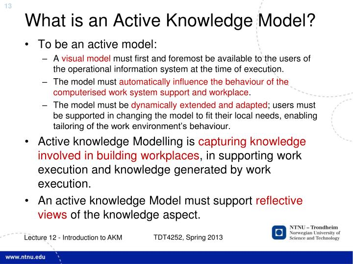 What is an Active Knowledge Model?