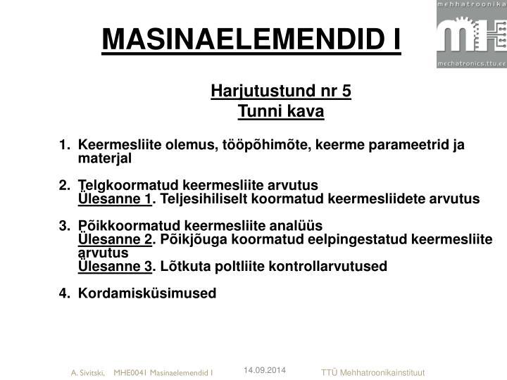 Masinaelemendid i1
