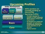 upcoming profiles
