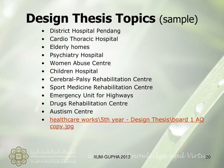 Design Thesis Topics