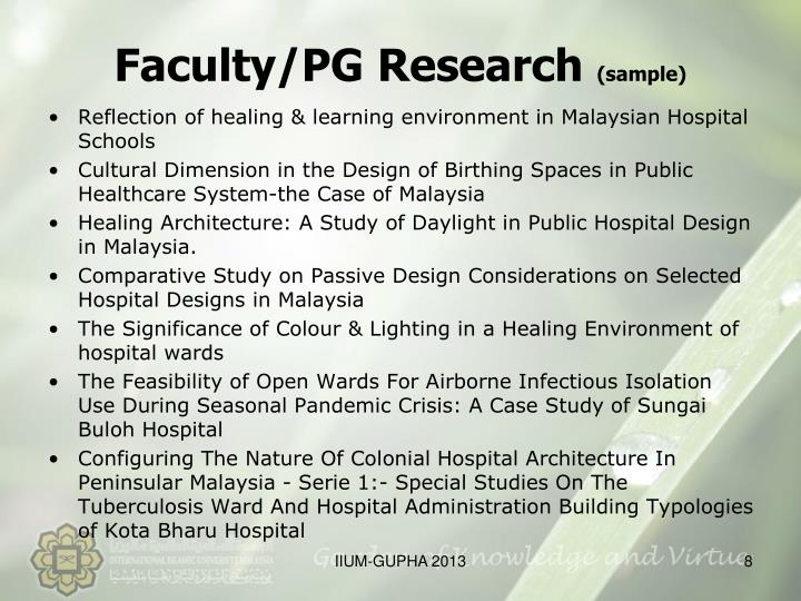 Faculty/PG Research
