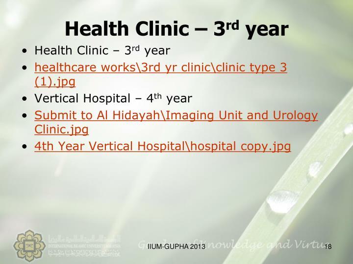 Health Clinic – 3