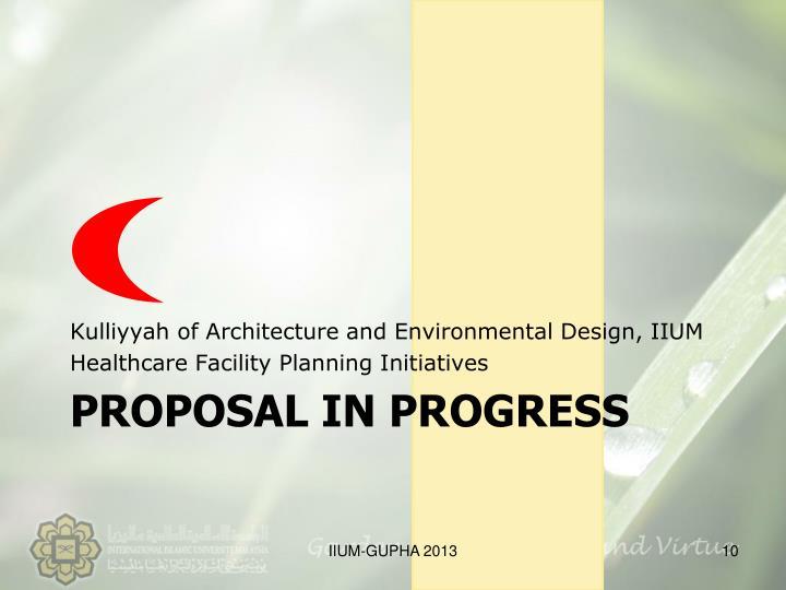 Kulliyyah of Architecture and Environmental Design, IIUM