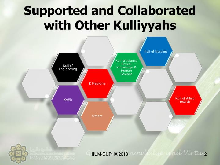 Supported and Collaborated with Other Kulliyyahs