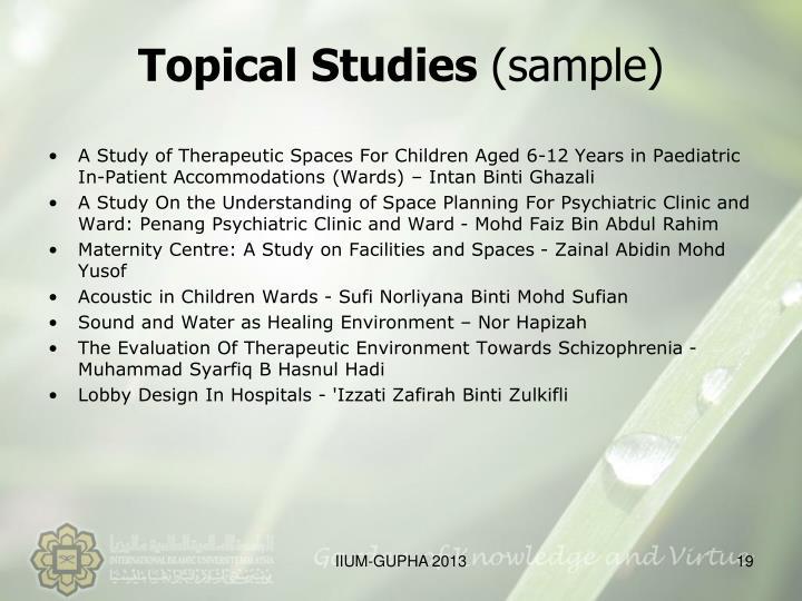Topical Studies
