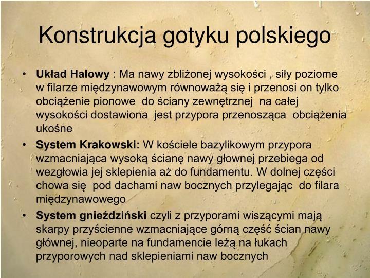 Konstrukcja gotyku polskiego