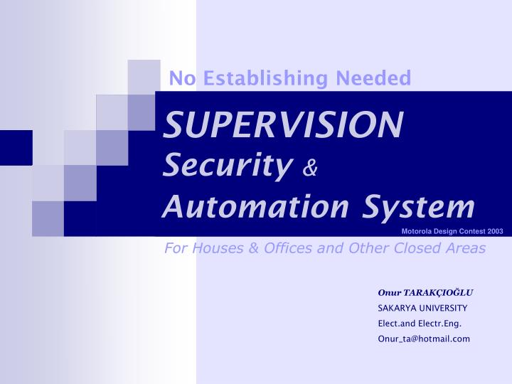 supervision security automation system