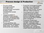 process design production