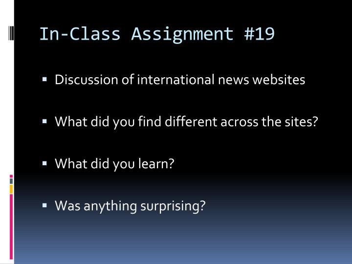in class assignment 19 n.