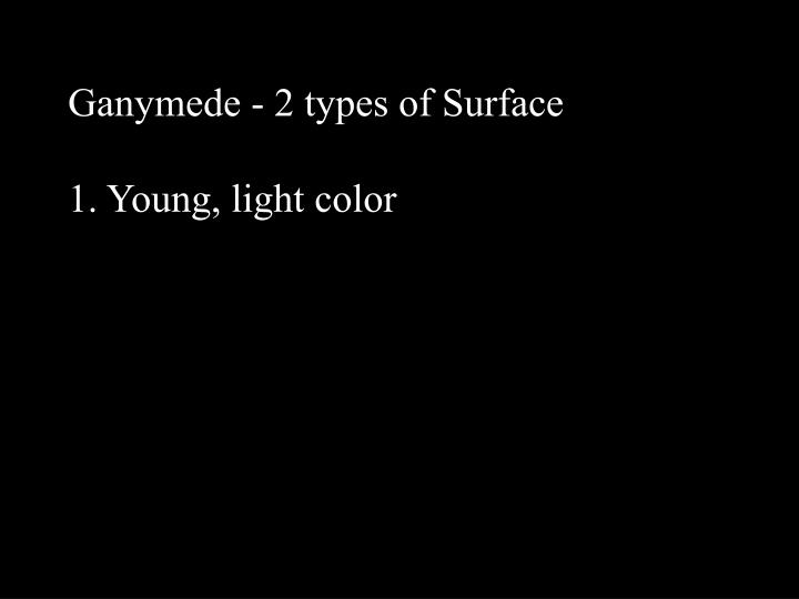Ganymede - 2 types of Surface