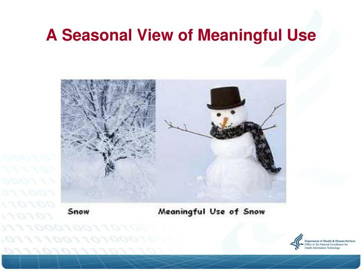 A seasonal view of meaningful use
