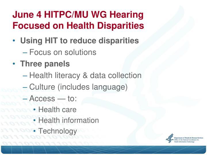 June 4 HITPC/MU WG Hearing