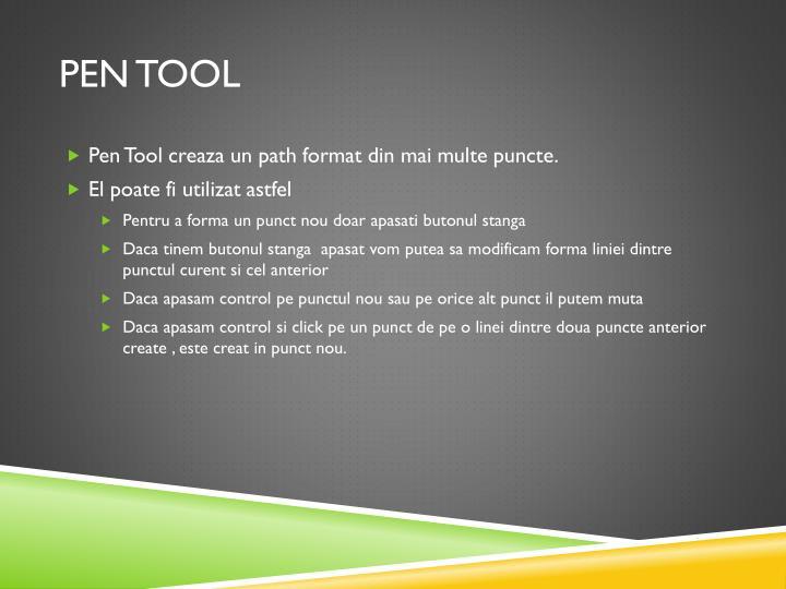 Pen tool