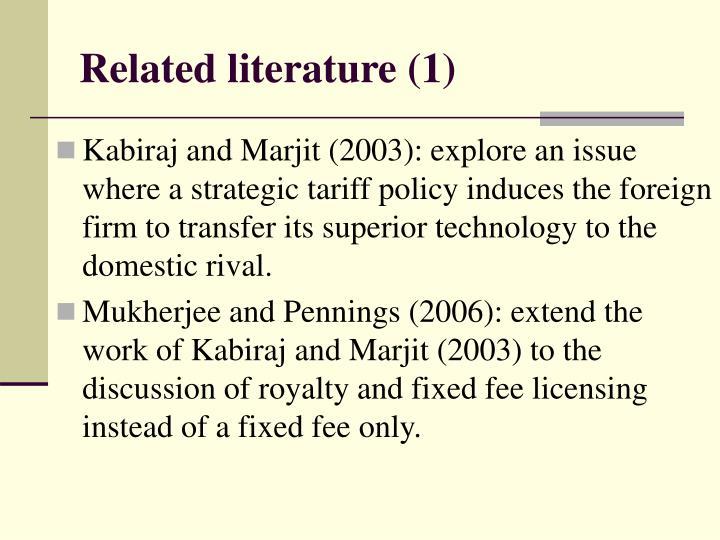 Related literature (1)