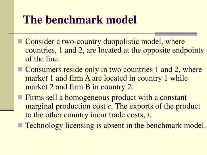 The benchmark model