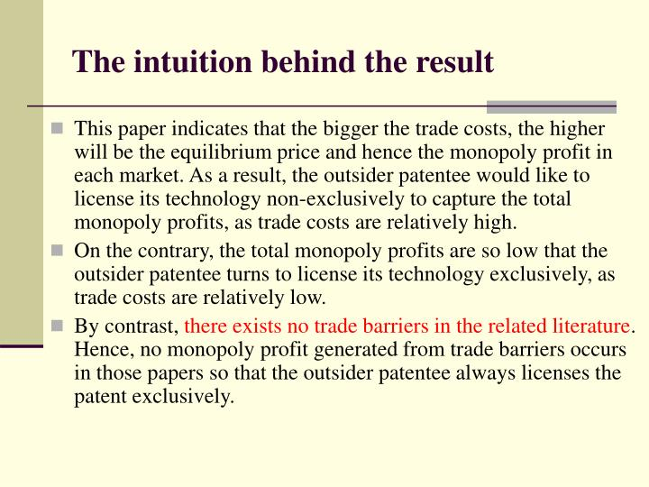 The intuition behind the result