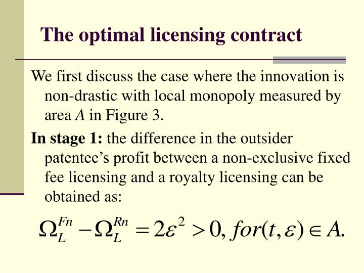 The optimal licensing contract