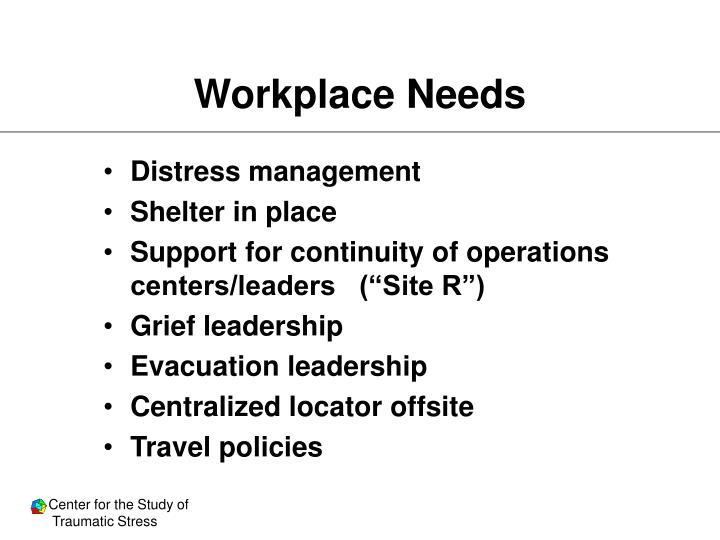 Workplace Needs