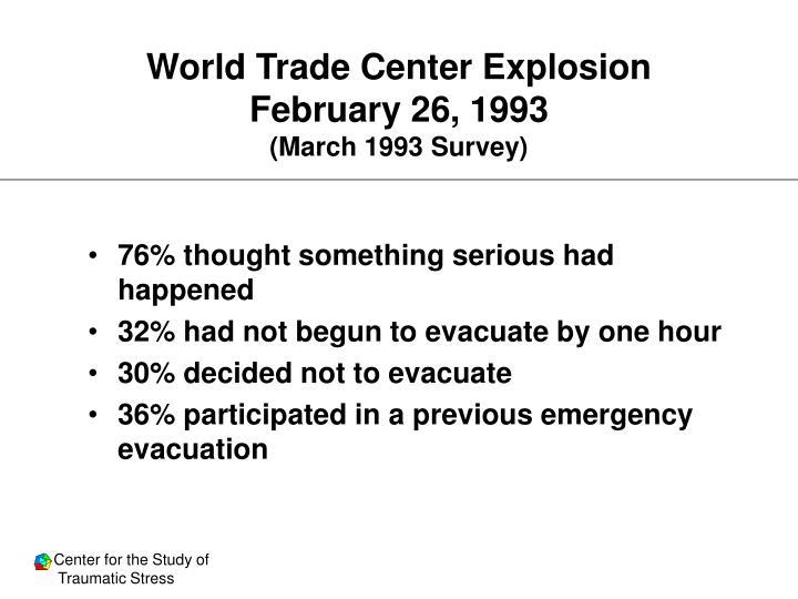 World Trade Center Explosion