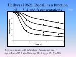 hellyer 1962 recall as a function of 1 2 4 and 8 presentations