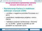 druge predvidene spremembe oziroma razvojne aktivnosti po l 2012
