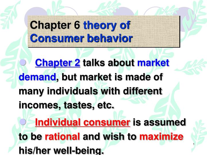 the underlying assumptions of consumer sovereignty theory Components of an economic model 3 parts underlying assumptions, including ceteris paribus assumption theory of behavior predictions positive model: value free contradictions in the market employer need for flexibility vs employee need for income security demand for skilled workers vs failed public schools & aging work force worker demand for.