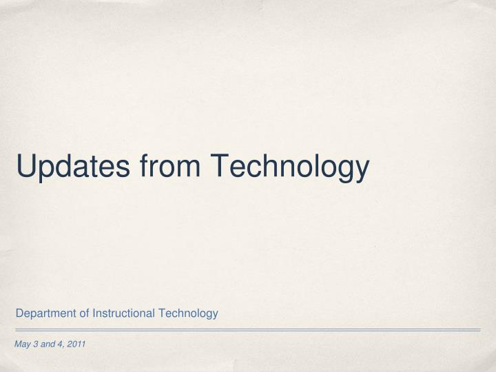 updates from technology n.