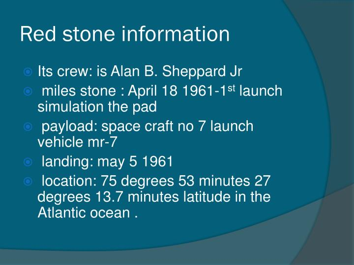 Red stone information