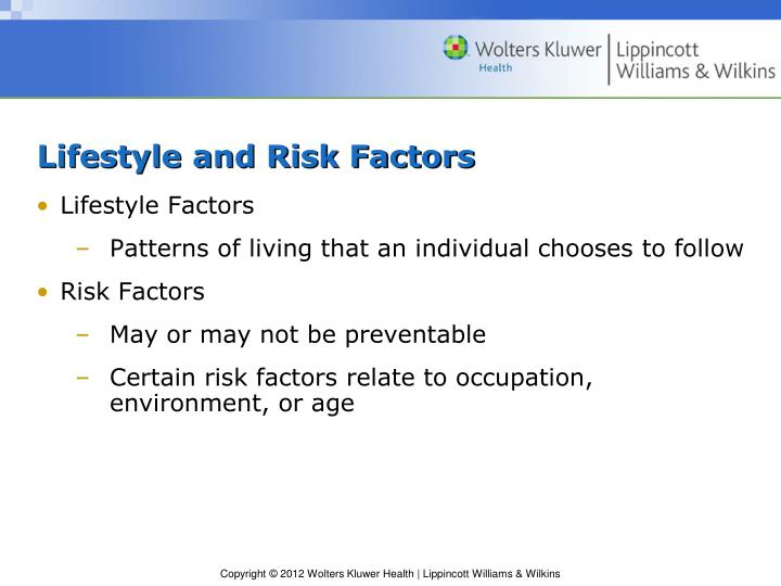 Lifestyle and Risk Factors