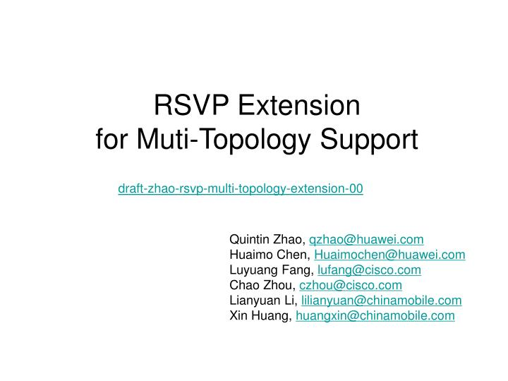 Rsvp extension for muti topology support