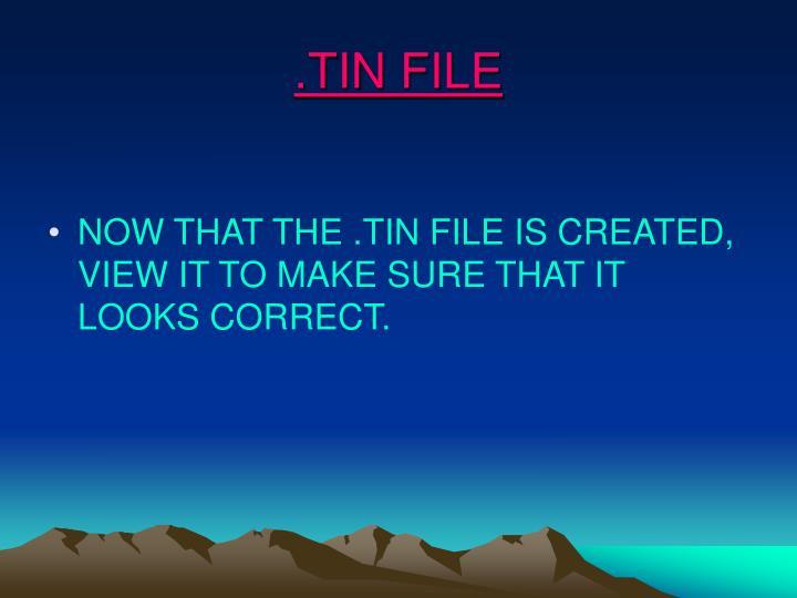 .TIN FILE