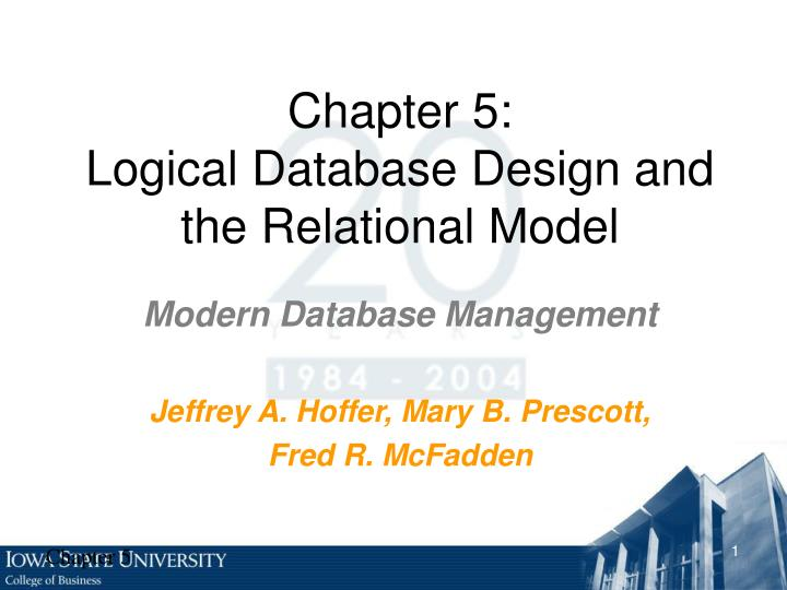 chapter 5 logical database design and the relational model n.
